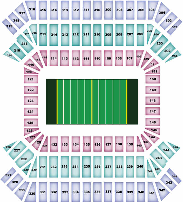 Tampa Bay Buccaneers Seating Chart for Raymond James Stadium